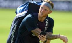England captain Ben Stokes during a nets session at Ageas