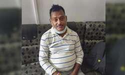 Akash, elder son of gangster Vikas Dubey, returns home