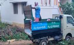 COVID-19 patients shifted to hospital in garbage vehicle in Andhra Pradesh