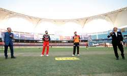 Virat Kohli and David Warner during toss time
