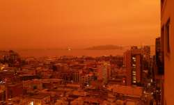 orange california skies viral pictures