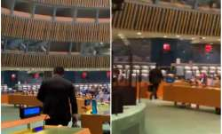 Indian delegate walks out from UNGA hall as Pak PM begins speech