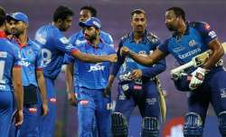 Mumbai Indians after registering a five-wicket victory over
