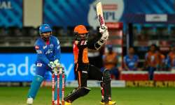 Live Score Sunrisers Hyderabad vs Delhi Capitals IPL 2020: Saha, Warner power SRH to 219/2