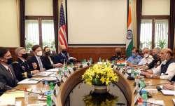 Defence Minister Rajnath Singh meets US Defence Secretary Mark Esper
