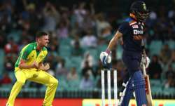 Live Cricket Score India vs Australia 1st ODI 2020: Hazlewood runs through India top-order