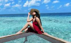 Sonakshi Sinha leaves behind a piece of her heart as she leaves Maldives