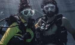 Shibani Dandekar goes diving with boyfriend Farhan Akhtar