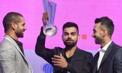 Shikhar Dhawan, Virat Kohli and Ajinkya Rahane