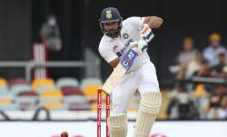 India's Rohit Sharma bats during play on day two of the