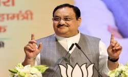 BJP President JP Nadda addresses the concluding session of