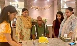 Lalu Prasad Yadav celebrates 74th birthday in Delhi,