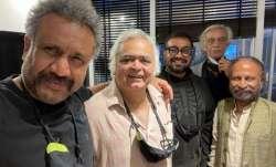 Directors Anubhav Sinha, Hansal Mehta, Anurag Kashyap reunite over 'samosas'