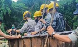 Navy continues diving operations to locate trapped miners in Meghalaya
