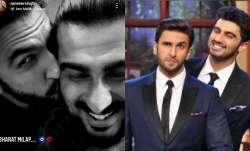 It's 'Bharat Milap' time for Arjun Kapoor & Ranveer Singh   See pic