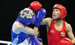 File photo of Mary Kom (in red)