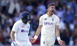 James Anderson dismisses Virat Kohli on opening day of third Test on Wednesday
