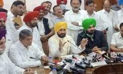 Punjab Chief Minister Charanjit Singh Channi addresses a