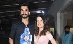 Birthday boy Sunny Kaushal hosts Shiddat screening, Radhika