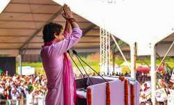 Priyanka Gandhi Vadra speaks during Kisan Nyay Rally in