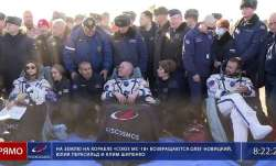 Russian film crew wraps shooting in space, returns to Earth