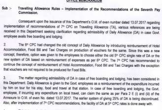 7th Pay Commission: Confused about Travelling Allowance