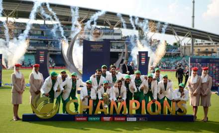 ICC Champions Trophy - Pakistan players celebrating