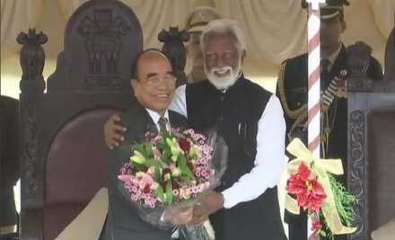 Governor Kummanam Rajasekharan administered the oath of