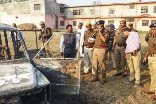 Teams of police personnel are approaching villages that