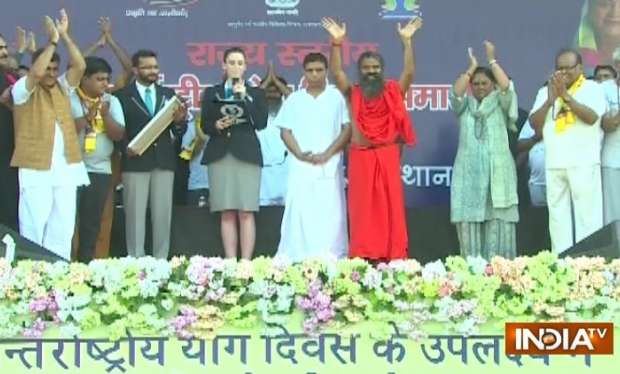 International Yoga Day 2018 LIVE: Baba Ramdev makes it to