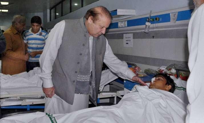 Nawaz Sharif visits Lahore attack victim