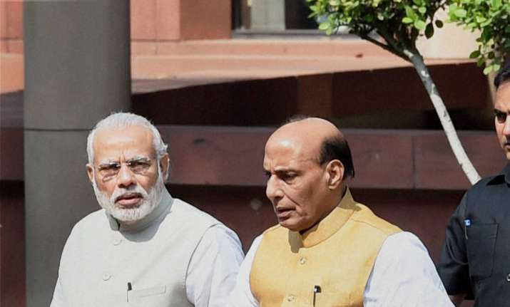 PM Modi With Rajnath Singh