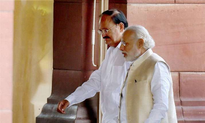 Venkaiah Naidu with PM Modi