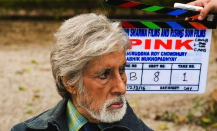 Amitabh Bachchan on the sets of Pink