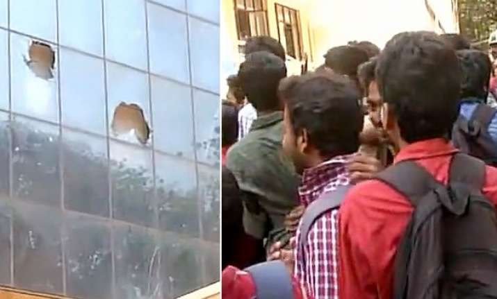 Students protest in Bengaluru after Class 12th Chemistry