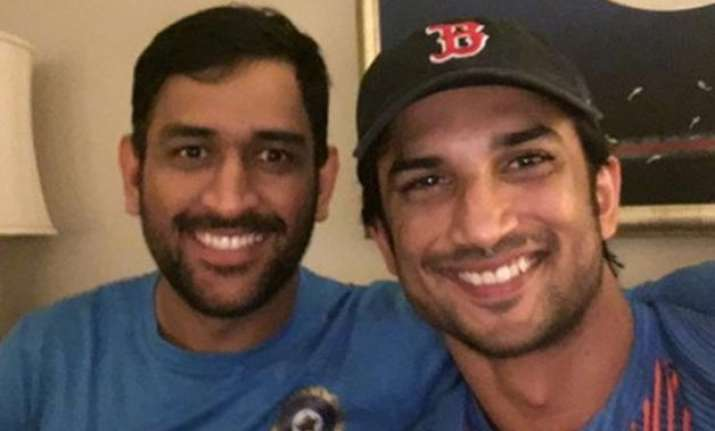 M.S Dhoni with Sushant Singh Rajput