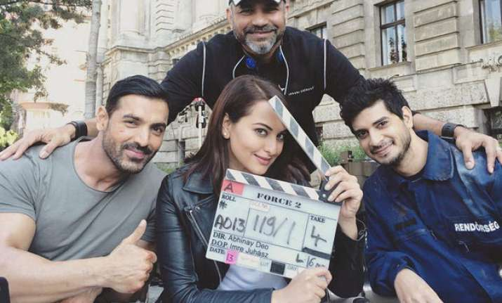 John Abraham with Sonakshi Sinha and Tahir Raj Bhasin
