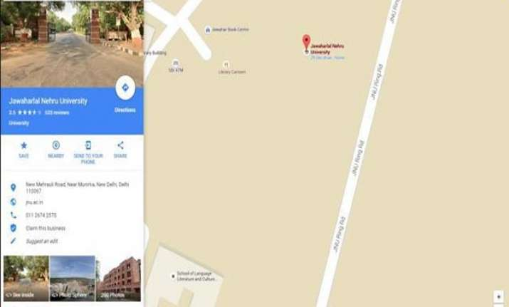 JNU students and teachers have expressed dismay over Google