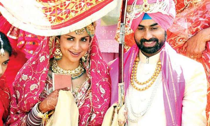 Gul Panag with her husband