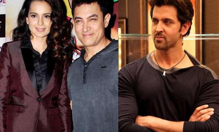 Kangana Ranaut, Aamir Khan and Hrithik Roshan
