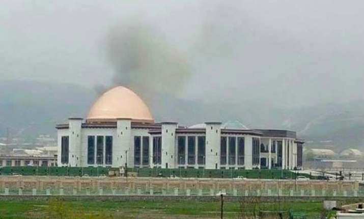Rockets were fired at new Afghanistan Parliament building
