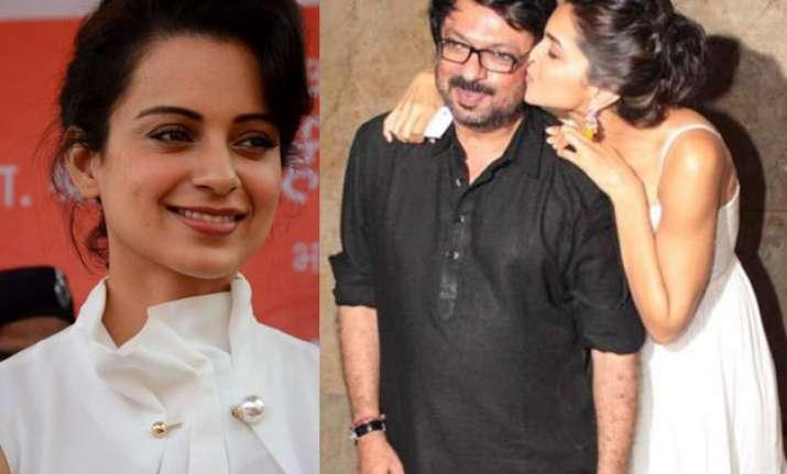 Kangana Ranaut, Sanjay Leela Bhansali and Deepika Padukone