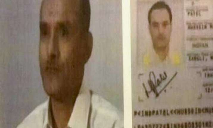 A TV grab of Kulbhushan Jadhav, who has been arrested in