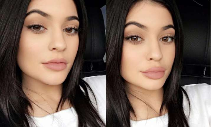 Kylie has shared the secret of her pouty lips on Snapchat.