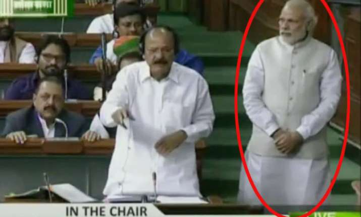 PM Modi in Lok Sabha
