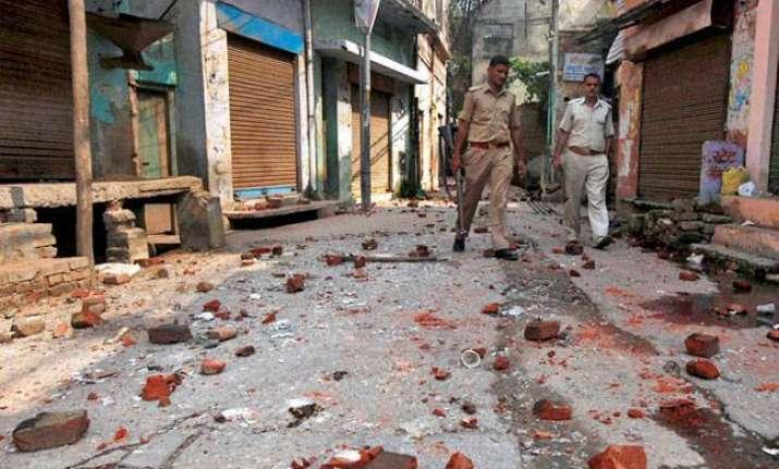 File photo of destruction during Muzaffarnagar riots