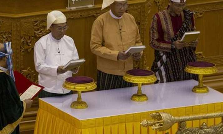 Htin Kyaw sworn in as Myanmar's President