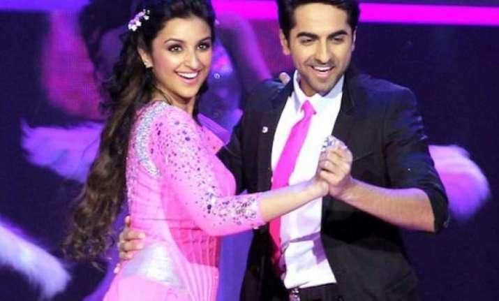 Parineeti Chopra with Ayushmann Khurrana