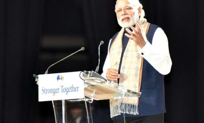 PM Modi addressed Indian diaspora in Brussels