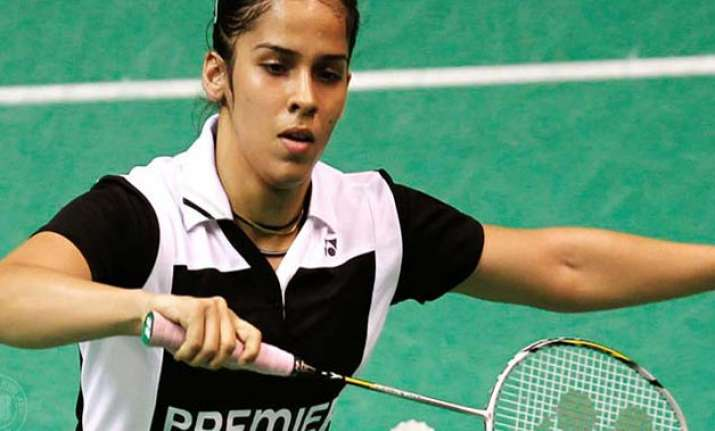 Indian shuttlers Saina Nehwal registered fighting victory